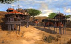 guildwars Fantasy Village, Sculpture, Environmental Art, Medieval Fantasy, Decoration, To Go, The Incredibles, Landscape, Architecture