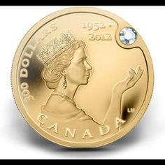 Elizabeth Gold Coin worth three million. Gold coin is pure ounce of gold and a beautiful jaw-dropping diamond.Queen Elizabeth Gold Coin worth three million. Gold coin is pure ounce of gold and a beautiful jaw-dropping diamond. Die Queen, Canadian Coins, Canadian Diamonds, Coin Worth, Gold Money, Gold And Silver Coins, Gold Bullion, World Coins, Rare Coins