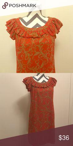 Dressbarm dress Great little dress. Beige and orange. Feels great on. Dresses