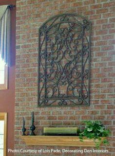 Wrought Iron Wall Decor Exterior The Reflection Of Your Taste With Interior Design
