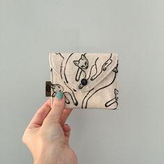 100% Cotton cat wallet