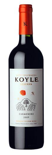 Curl up with a glass a wine: Vina Koyle Carmenere Reserva #WW