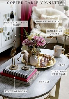 Styling a coffee table vignette