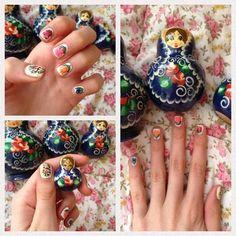 Russian Doll Manicure!