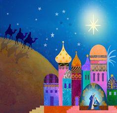 Christmas, Nativity - Jan Pashley, a British illustrator & designer.