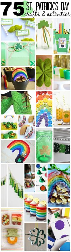 75 Super Fun St. Patrick's Day Crafts and Activities.