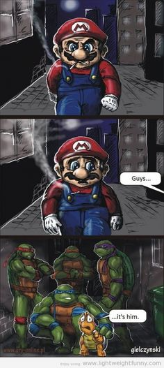 Uh oh, Mario's in trouble