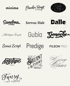 """betype: """"100 Best Fonts of 2014 To close the big feature I made to the best fonts of 2014 here I bring you a big wall post of the 100 fonts in a form of a logotype, just as the designers have decided..."""