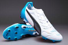 6ba7232fd59a Puma evoPOWER 1.2 L FG - White-Black-Hawaiian Ocean. Puma Football BootsSoccer  ...