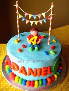 Balloon Theme Birthday Cake