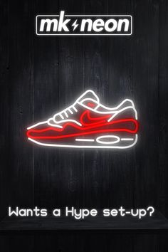 Wants a Hype set-up? Discover our HYPE neon signs on our shop online! Air Max, Cactus Jack, Takashi Flower and more! Hypebeast Brands, Low Voltage Transformer, Company Signage, Cactus Jack, Led Neon Signs, Air Max 1, Neon Lighting, New Technology, Clear Acrylic