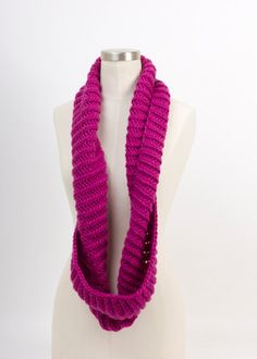 LEAH Hand Knit Soft Wool Infinity Scarf by RyanDeBonville on Etsy, $40.00