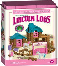 Lincoln Logs Little Prairie Farmhouse Building Set Lincoln Logs http://www.amazon.com/dp/B002Q826EW/ref=cm_sw_r_pi_dp_FmMxub19CNJHP