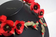 Déclaration rouge fleur collier Midi Wrap collier par CaeliLux