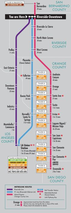 awesome Riverside Metro Map