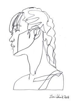 """Gaze 446″, continuous line drawing by Boris Schmitz"