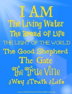 The I AM's from the Gospel of John