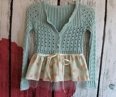 Women's Clothing  /  Upcycled Cardigan  /  by AmadiSloanDesigns, $52.00