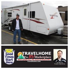 Congrats to Murray on the purchase of his Surveyor 264 #traveltrailer from Jay! #rvlife #camping #travel #vacation #gorving