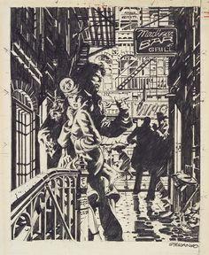 Jim Steranko, original art for Red Tide. He did the whole book's art in pencil. Comic Book Artists, Comic Book Characters, Comic Artist, Comic Books Art, Jim Steranko, Superman, Batman, Bristol Board, Black White Art