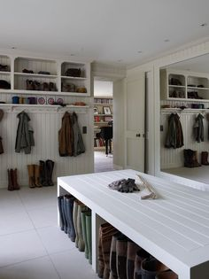 Bright Shoe Storage Bench trend London Traditional Laundry Room Inspiration with boot room boot storage Cloak room coat rack Coat Rail coats light modern mud Source by lechhatfield Coat Mudroom Laundry Room, Large Laundry Rooms, Shoe Storage Laundry Room, Laundry Room Island, Mud Room Lockers, Utility Room Storage, Small Laundry, Boot Storage, Bench With Shoe Storage