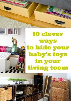 ROOMS: My Favorite Way To Hide Toys In My Family Room | Downstairs Remodel  | Pinterest | Toy, Room And Organizations