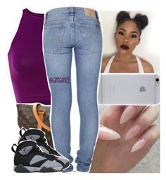 """""""i could put you in the mile high club, wassup?"""" by lamamig ❤ liked on Polyvore featuring Louis Vuitton, Native Union, Nudie Jeans Co. and Retrò"""