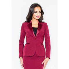 Jacket with a glossy collar
