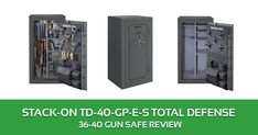 Stack on 36 – 40 Gun Safe Review: TD-40-GP-E-S Total Defense Safe Stack On Gun Safe, Total Defense, Drawer Labels, Security Safe, Washer And Dryer, Locker Storage, Guns, Weapons Guns, Washing And Drying Machine