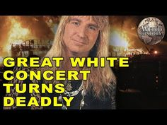 On February 2003 in West Warick, Rhode Island, tragedy struck during a Great White headlined concert. The devastating accident, often referred to as Th. The Station Nightclub Fire, Sound Of Music, Hollywood Stars, Night Club, Music Artists, Shit Happens, History, Concert, Youtube