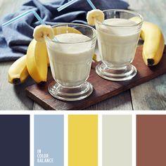 бледно-синий, голубой, красный цвет дерева, подбор цветового решения, синий, темно-синий, цвет банана, цвет бананового смузи, цвет дерева, цвет джинсы, шафрановый желтый, шоколадный, яркий желтый.