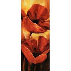 Image 3D Fleur - Coquelicot rouge à gauche 20 x 50 cm