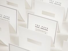 STANDING CARD by cool enough studio.  www.coolenoughstudio.com Place Cards, Place Card Holders, Studio, Design, Studios