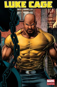 Marvel and Netflix have released the brand new trailer for Luke Cage, and if you thought the San Diego Comic-Con teaser was awesome, you need to get a look at Power Man (Mike Colter) in action here. Marvel Comic Universe, Comics Universe, Marvel Dc Comics, Luke Cage Comics, Luke Cage Marvel, Luke Cage Series, Comic Book Characters, Comic Books, Comic Art