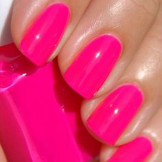 Pink nails are my favorite!