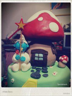 Puffi #sugarcake #fondant #cakedesign- Spentolettando