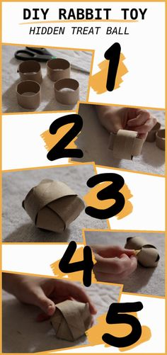 A step by step guide to make some easy cardboard chew toys for your rabbit You can make them out of simple materials you find around your house such as cardboard paper rolls and cardboard boxes Diy Hamster Toys, Diy Bunny Toys, Guinea Pig Toys, Diy Toys For Rabbits, Diy Bunny Cage, Bunny Cages, Rabbit Toys, Pet Rabbit, House Rabbit