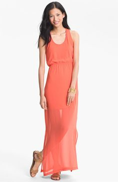 Nordstroms BP - $32.40  Inexpensive and pretty coral bridesmaid dress! Looks very beachy and comfortable