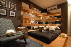 Um quarto muito aconchegante!