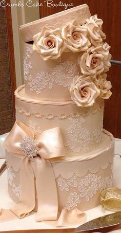 Vintage Hat Box Cake by aliascakes | Cake Decorating Ideas