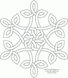 34 Ideas Embroidery Patterns Celtic Coloring Pages Paper Embroidery, Embroidery Patterns, Quilt Patterns, Snowflake Embroidery, Knitting Patterns, Snowflake Pattern, Snowflake Template, Beginner Embroidery, Geometric Embroidery