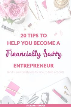 Staying on top of your finances is so important and moreso if you are an entrepreneur. Have a read of my top 20 tips of staying on top of your finances and download the free worksheets to get started straight away!