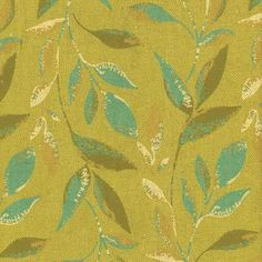 Woodsia Fabric in Moss (Patterned Pattern, brand fabric) | from Company C will cover the Charleston Chaise. @Company C  #Dreamincolor