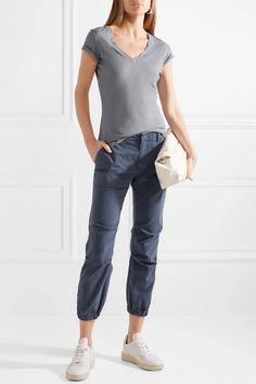 779b3b0e283 Gray-blue slub Supima cotton-jersey Slips on 100% Supima cotton Machine wash