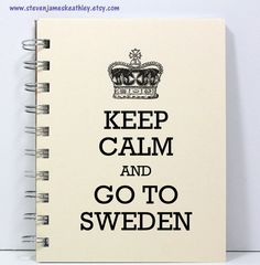Sweden Travel Journal Notebook Diary Sketch by stevenjameskeathley, $8.95
