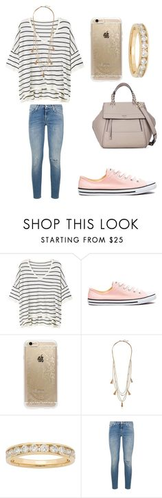 """""""Studying with my best friend"""" by sarahfohlen ❤ liked on Polyvore featuring MANGO, Converse, Rifle Paper Co, Panacea, 7 For All Mankind, Tory Burch, Winter and 2k17"""