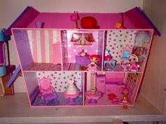 Homemade Lalaloopsy Doll House! #dollhouse #lalaloopsy