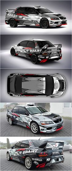 Design and wrap of Mitsubishi Lancer Evo IX for Slovak Xiqio Racing team