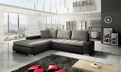 Feel the elegance with the Emma Fabric Sofa Bed, With it's stunning contemporary Italian design. Added intricate stich detail on the seats and finished. Bed Design, House Design, Sofa Bed, Couch, Grey Fabric, Fabric Sofa, Painted Furniture, Outdoor Furniture, Living Room