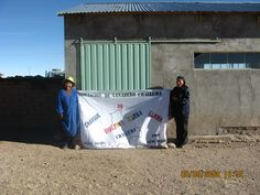 Dona Maximiliana and her daughter, producers of lama meat products with the Association of lama breeders of Challuma